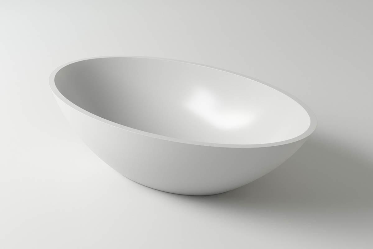 Раковина каменная Holbi Dione, 60x36, из Solid Surface