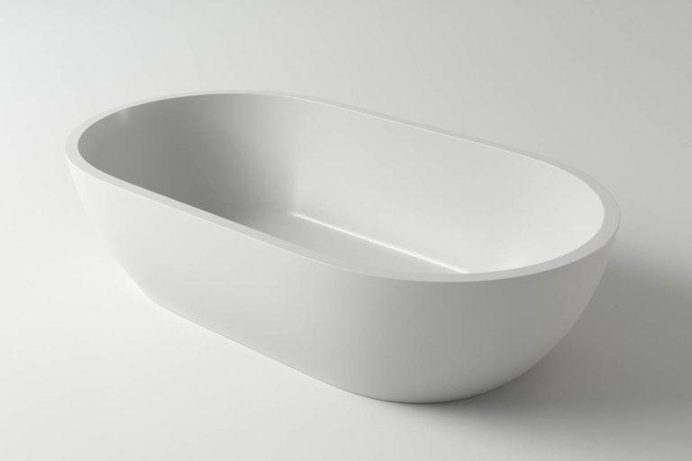 Раковина каменная Holbi Mercury, 64x35, из Solid Surface