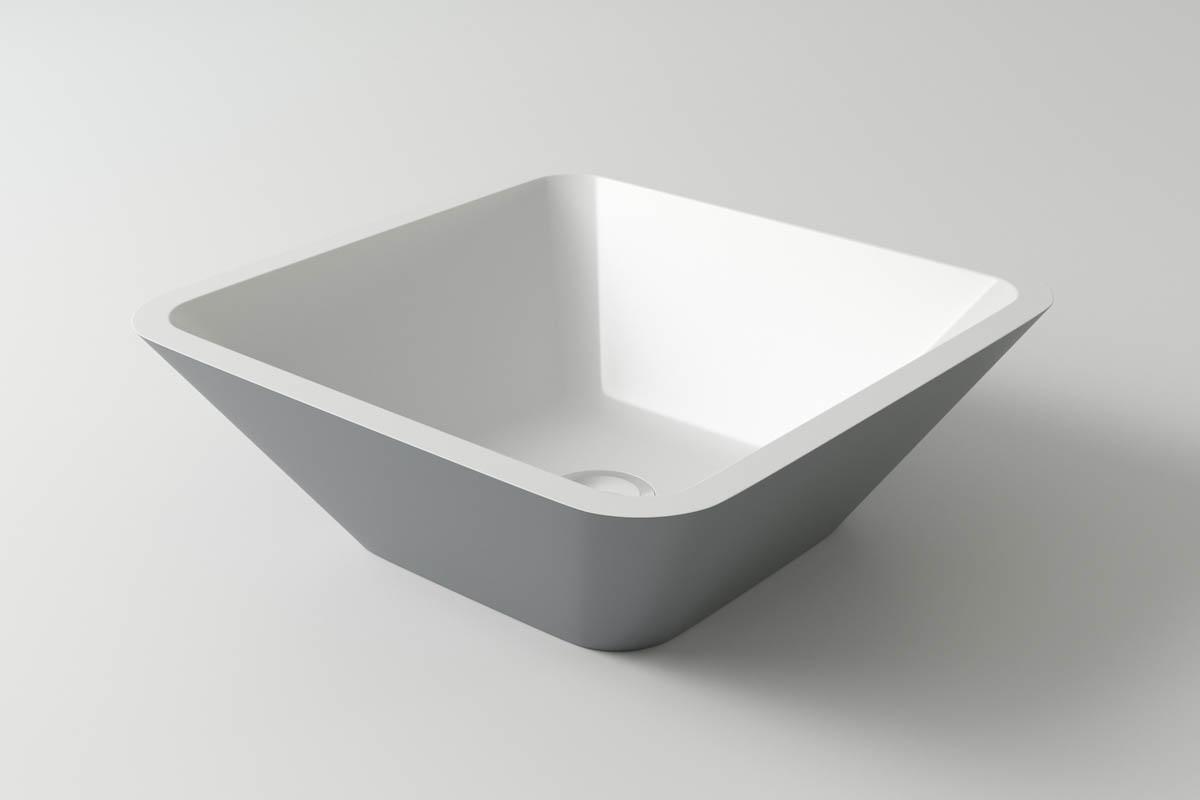 Раковина каменная Holbi Saturn, 43x43, из Solid Surface