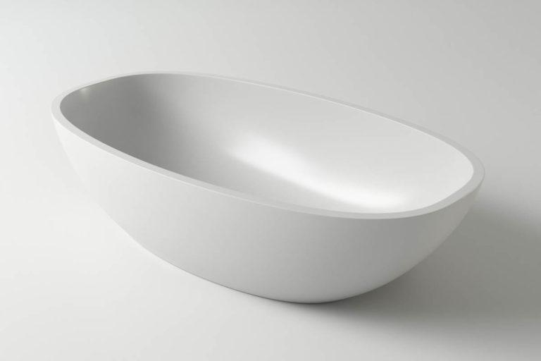 Раковина каменная Holbi Tefia, 64x35, из Solid Surface